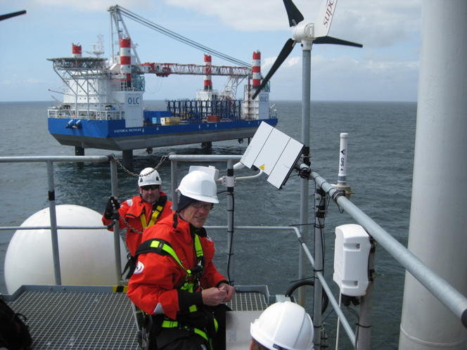 Germany: Victoria Mathias Arrives at Nordsee Ost Wind Farm Site